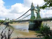 Hammersmith Bridge - River Thames, London.