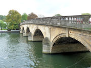 Henley Bridge - River Thames in England.