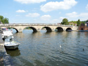 The River Thames being crossed by Henley Bridge - England.