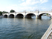Kingston Upon Thames Bridge over The River Thames in England.