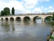 Maidenhead Bridge with it's excellent arches going over The River Thames, England.