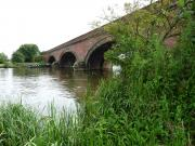 Brunel's excellent railwaybridge over The Thames at Moulsford, England.