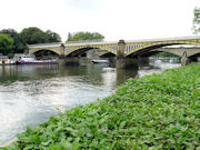Richmond Railway Bridge over The Thames in England.