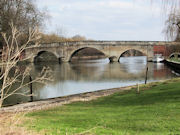 Shillingford Bridge as it crosses The River Thames in Oxfordshire.