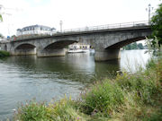 Staines Bridge - River Thames in England.