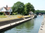 Boveney Lock and the River Thames, England.