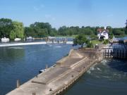 Goring Lock and Weir over The Thames in England.