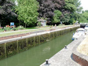 Romney Lock on The River Thames near Windsor in England.
