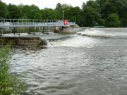 Whitchurch Weir on The River Thames, England.