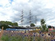 The old Cutty Sark at Greenwich, London.