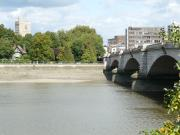 Putney Bridge - beside The River Thames on the eastern side of London, England.