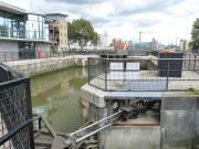 South Dock Lock and Gates -  River Thames, London.