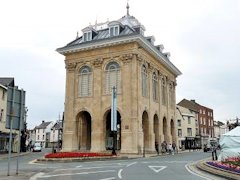 Abingdon's beautifully restored County Hall - near The Thames in England.