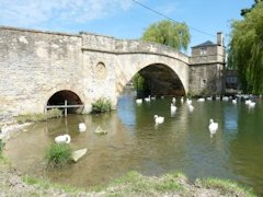 Halfpenny Bridge beside The Thames Path at Lechlade, England