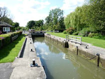 Kings Lock on the River Thames near Oxford, England.