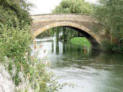 The well named old Tadpole Bridge crossing The River Thames in Oxfordshire, England.