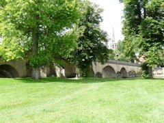 The beautifull medieval bridge at Wallingford beside The Thames Path in England